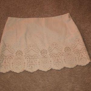 Cream cutout skirt